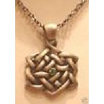 Green Gem Celtic Knot, Necklace