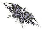 Ivory and Purple Butterfly, Sticker