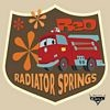Radiator Springs Square Button