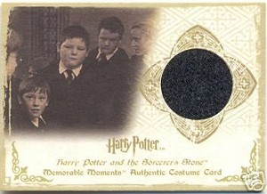 Vincent Crabbe (Jamie Waylett) Sorcerer's Stone, Costume Trading Card