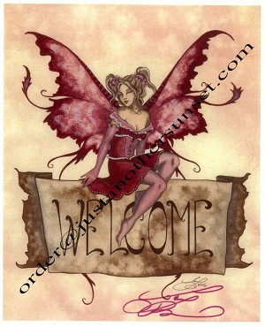 "Welcome (Banner), Print 8.5""x11"" Signed"