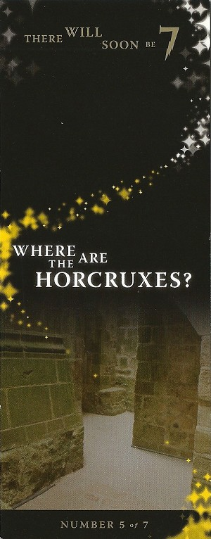 Where are The Horcruxes?, Promo Bookmark
