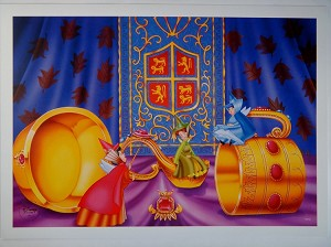 "Sleeping Beauty Fairies, Flora, Fauna, Merryweather, Lithograph Print 10""x14"""