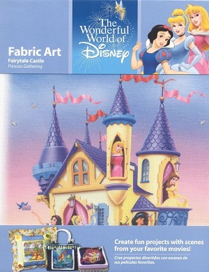 Disney Princess Castle, Fabric Art Square