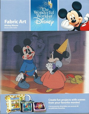 Mickey Mouse The Brave Tailor, Fabric Art Square