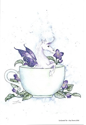 "Enchanted Tea, Print 6""x9"""