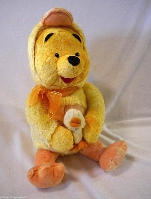Ducking Pooh with Baby Duck, Plush