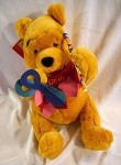 Valentines Pooh Plush with Heart Cutouts