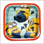 Minions Dessert Plates 8 Count 7 Inch