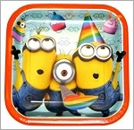Minions Luncheon Plates 8 Count 9 Inch