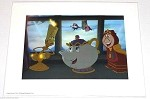 Lumiere, Mrs. Potts & Cogsworth, Lithograph Print 11