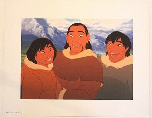 "Brother Bear Kenai, Sitka and Denali, Lithograph Print 11""x14"""