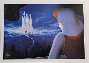 "Cinderella and Castle, Print 10""x14"""