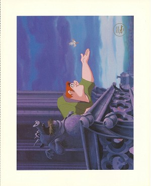 "The Hunchback of Notre Dame, Quasimodo, Lithograph Print 8""x10"""