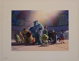 "Monsters Inc Crew, Lithograph Print 11""x14"""