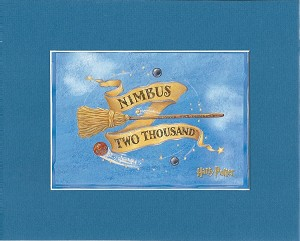 "Nimbus Two Thousand, Print Matted 8""x10"" (Blue)"