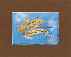 "Nimbus Two Thousand, Print Matted 8""x10"" (Brown)"