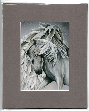 "Guardian, Print Matted 8""x10"" (Grey)"