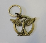 Mockingjay Metal Keychain, Replica