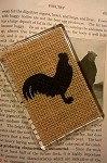 Chicken on Burlap, Lucite Magnet