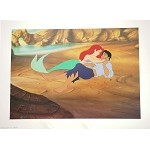 Little Mermaid, Beach Rescue, Prince Eric, Lithograph Art Print
