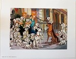 101 Dalmatians, Pongo, Perdita, Pups in London, Lithograph Print 11