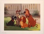 Lady and the Tramp, Jock & Trusty, Lithograph Print 11