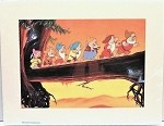 Snow White & 7 Dwarfs to Work, Lithograph Print 11