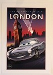Cars London World Grand Prix Poster, Lithograph Print 10