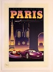 Cars Paris Grand Prix Poster, Lithograph Print 10