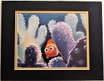 Finding Nemo in Coral, Matted Lithograph Print 11