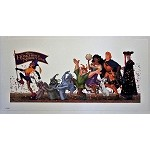 Hunchback of Notre Dame Crew Parade, Lithograph Print 8