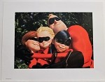 The Incredibles, Family Group Hug, Lithograph Print 11