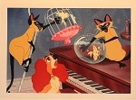 Lady and the Tramp, Si & Am Cat Trouble Fishbowl, Lithograph Print 10
