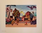 Lilo & Stitch with Crew on Beach, Lithograph Print 11