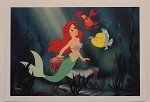 Little Mermaid, Flounder & Sebastian, Lithograph Art Print