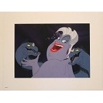 Little Mermaid, Ursula the Sea Witch Flotsam & Jetsam Lithograph Art Print