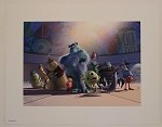 Monsters Inc Crew, Lithograph Print 11