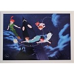 Peter Pan Soaring Over London, Lithograph Print 10