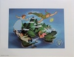 Peter Pan Soaring Over Neverland, Lithograph Print 11