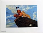 The Lion King Simba, Nala, Timon, Pumba at Pride Rock, Lithograph Print 11