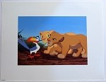 The Lion King Simba and Nala with Zebra's, Lithograph Print 11