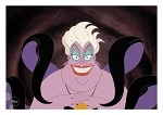 Little Mermaid, Ursula the Sea Witch Lithograph Art Print