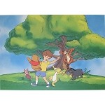 Winnie the Pooh, Christopher Robin, and Crew Playing Under Tree, Lithograph Print 11