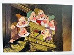 Snow White & 7 Dwarfs on Stairs, Lithograph Print 10