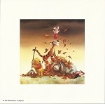 Winnie the Pooh Crew Seasons Fall / Autumn, Lithograph Print 8.5