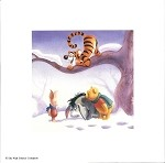 Winnie the Pooh Crew Seasons Winter, Lithograph Print 8.5