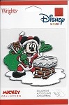 Mickey Mouse as Santa Claus, Embroidered Patch
