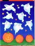Halloween Ghost and Pumpkin Stickers