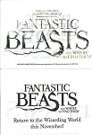 Fantastic Beasts, Promo Sticker